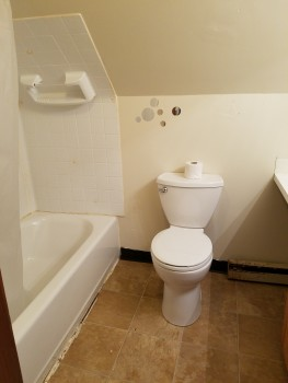 5 Myrtle Avenue Toilet with shower